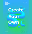 abstract poster template modern gradients vector image