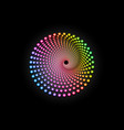 3d colorful halftone dots circle spiral pattern vector image vector image