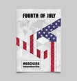 4th july independence day background design vector image vector image