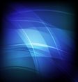 Abstract background with blue line wave vector image vector image