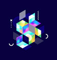 abstract colorful geometric isometric shape vector image