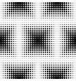 abstract halftone squared seamless pattern vector image