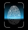 biometric fingerprint scan vector image