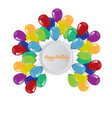 birthday background with flying balloons border vector image
