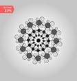 black snowflake icon snow flake simple vector image vector image