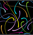 blob doodle curves seamless pattern vector image