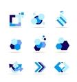 Blue shape logo icon set vector image vector image