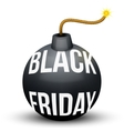 Bomb About To Blast with Black Friday sales tag vector image
