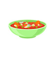 bowl of tasty cream soup with vegetables vector image