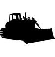 bulldozer silhouette vector image vector image