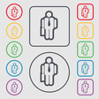 businessman icon sign symbol on the Round and vector image