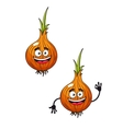 Cartoon happy smiling fresh onion vector image