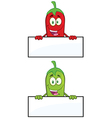 Cartoon hot chilli design vector image vector image