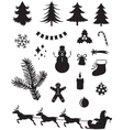 Christmas silhouettes vector | Price: 1 Credit (USD $1)