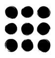 circle textured hand drawn abstract black ink vector image