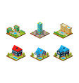 city buildings set urban landscape private real vector image vector image