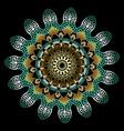 colorful ornamental vintage 3d greek mandala vector image vector image