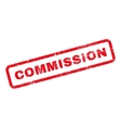 Commission Text Rubber Stamp vector image