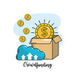 crowdfunding business company negotiation support vector image