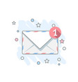 flat icon message vector image vector image