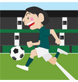 football soccer sport cartoon set vector image vector image
