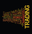 forex find out if it s the right market for you vector image vector image