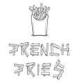 French fries2 resize vector image