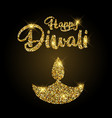glittery diwali background vector image vector image