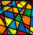 grunge stained glass window vector image