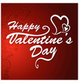 happy valentines day card with red pattern vector image