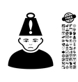 Head Stress Flat Icon With Bonus vector image