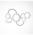Hexagon web design vector image vector image