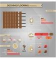 Infographic decking floor vector image vector image