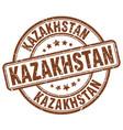 kazakhstan stamp vector image vector image