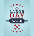 labor day sale banner vector image