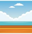 landscape background cartoon vector image