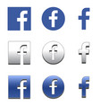 letter f icon social media icon facebook icon vector image