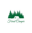 logo for camping mountain adventure emblems and vector image vector image