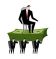 managers carry boss workers are head office clerk vector image vector image