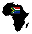 map of africa with flag vector image vector image