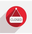 modern closed red circle icon vector image