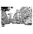 original black and white urban architectural vector image vector image
