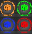 packaging cardboard box icon Fashionable modern vector image