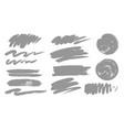 paint brush stroke texture grunge set vector image