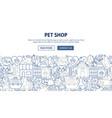 pet shop banner design vector image vector image