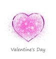 Pink heart in a gift on Valentines day vector image