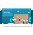 planning schedule landing page website vector image