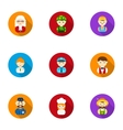 Profession set icons in flat style Big collection vector image vector image