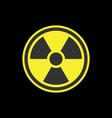 radiation symbol or radioactive warning glyph icon vector image