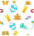 Relax on beach pattern cartoon style vector image